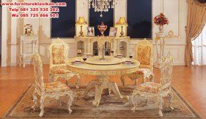 meja makan model klasik mewah