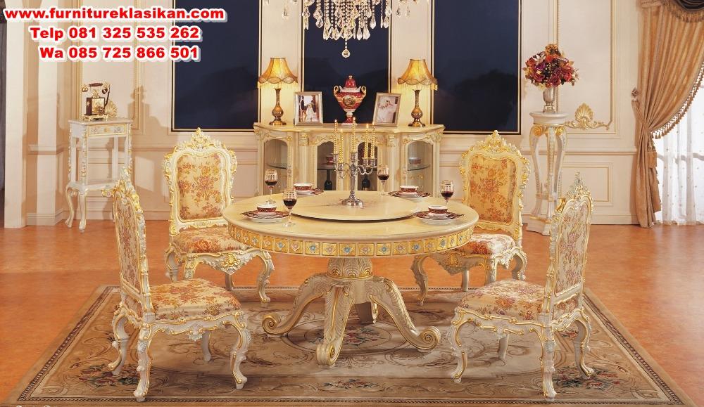 1-5-m-tavola-rotonda-di-lusso-set-sala-da-pranzo-sala-da-pranzo-tavolo-set meja makan model klasik mewah
