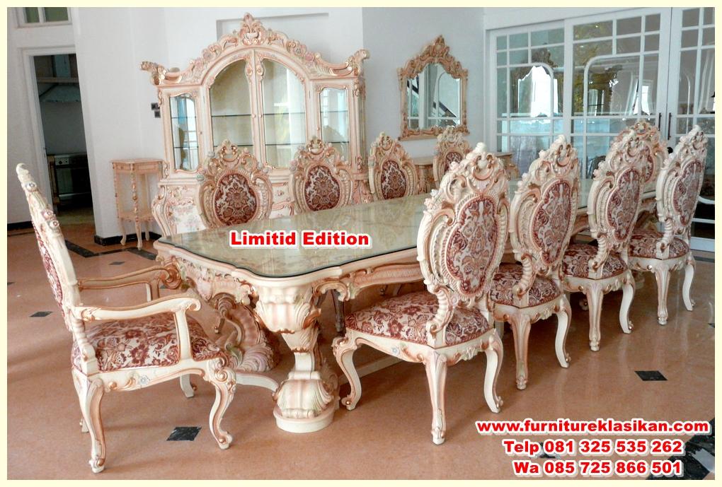 Classic-Dining-Furniture-Set kursi meja makan ukiran terbaru mewah