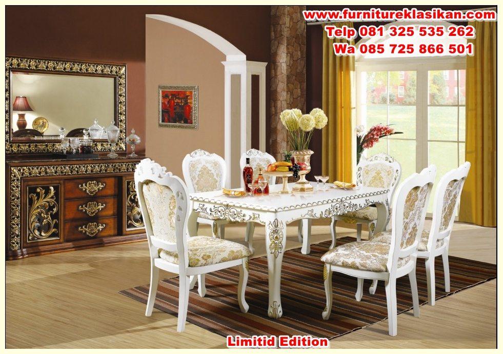 Glamorous-Luxury-Dining-Tables-And-Chairs-28-For-Your-Dining-Room-Chairs-with-Luxury-Dining-Tables-And-Chairs Meja Makan Ukiran Duco Salina Terbaru