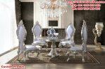 meja makan ukiran brunello klasik