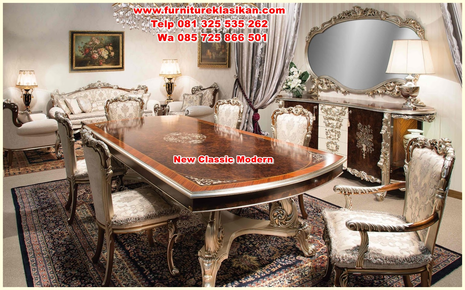 Luxury_dining_room_furniture5 meja makan veneer klasik terbaru