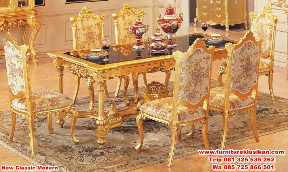 kursi meja makan klasik ukiran gold - desain furniture jepara ...
