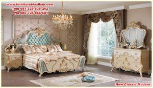 set kamar tidur ukiran klasik mewah modern