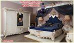 1 set tempat tidur klasik queen mewah