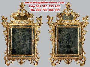 cermin pigura ukiran antik mewah
