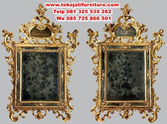 cermin-pigura-ukiran-antik-mewah cermin pigura ukiran antik mewah