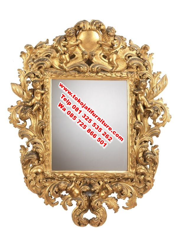 figura cermin ukiran modern