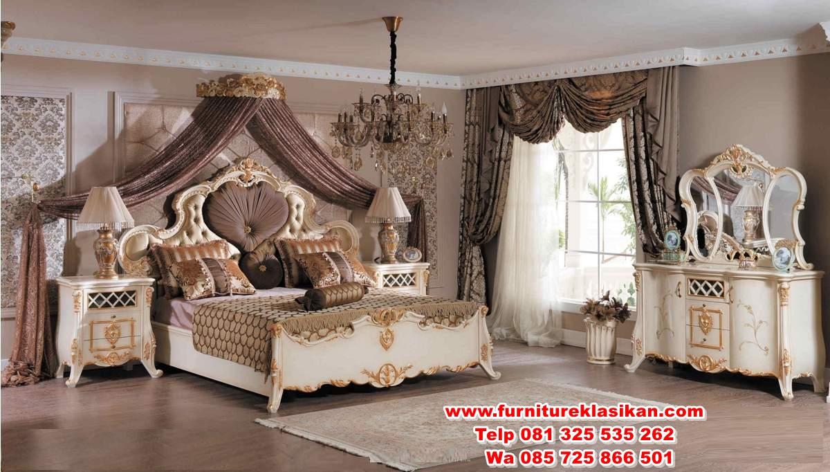 grand-luks-klasik-yatak-odasi-115374-12-B 1 set tempat tidur ukiran mewah terbaru