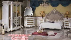 set tempat tidur desain ukiran mewah