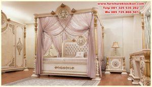 1 set tempat tidur canopy klasik mewah