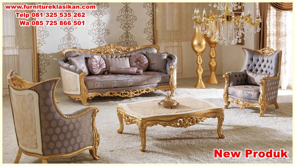 kursi sofa tamu ukiran mewah modern