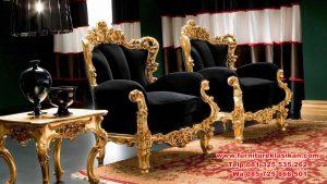 kursi teras ukiran gold modern