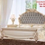 1 set tempat tidur cream duco gold
