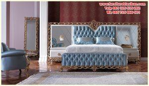 set tempat tidur pengantin ukiran mewah