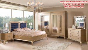 set tempat tidur minimalis klasik mewah