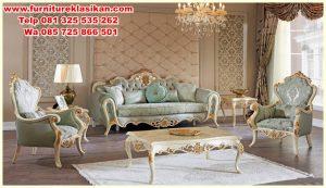 sofa tamu ukiran klasik modern