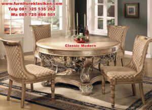 set meja makan desain modern
