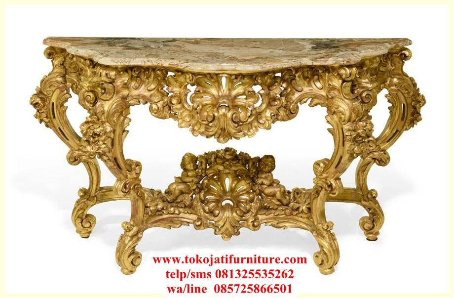 1251010_0 meja consol ukiran warna gold marmer
