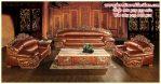 sofa tamu jati model naga klasik