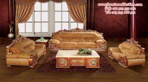 desain sofa tamu mewah klasik ukiran