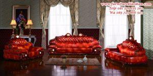 set kursi sofa tamu jati mewah