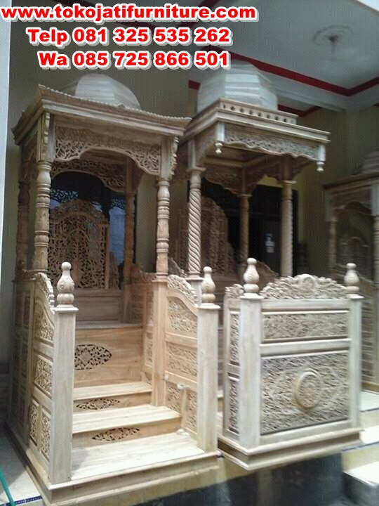 FB_IMG_14682605173489385 mimbar jati masjid ukiran mentah