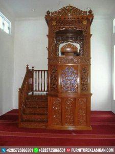 mimbar masjid jati kubah natural glosy