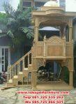 mimbar jati masjid model tangga joglo