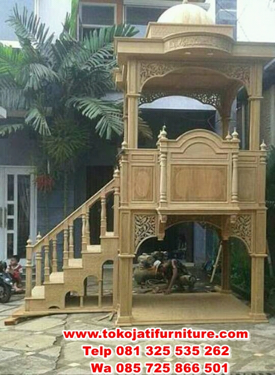 FB_IMG_14917328504041057 mimbar jati masjid model tangga joglo