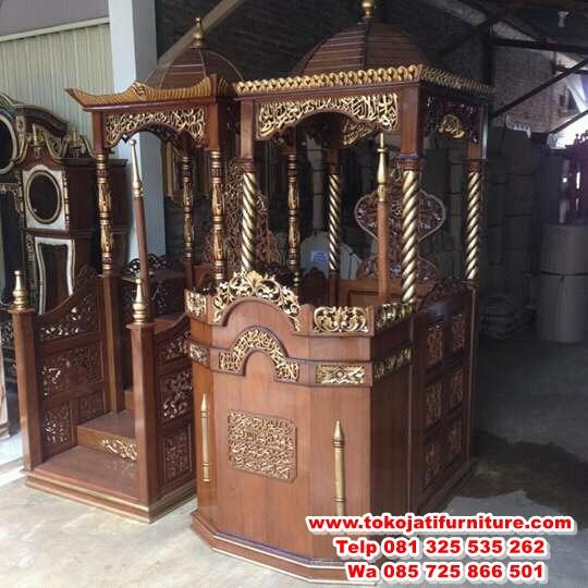 FB_IMG_14931385170700088 mimbar masjid jati desain kubah ukiran