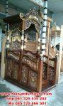 mimbar masjid jati ukir klasik terbaru