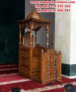 mimbar jati masjid jepara model kubah