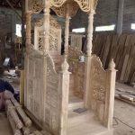 mimbar jati masjid model tangga depan