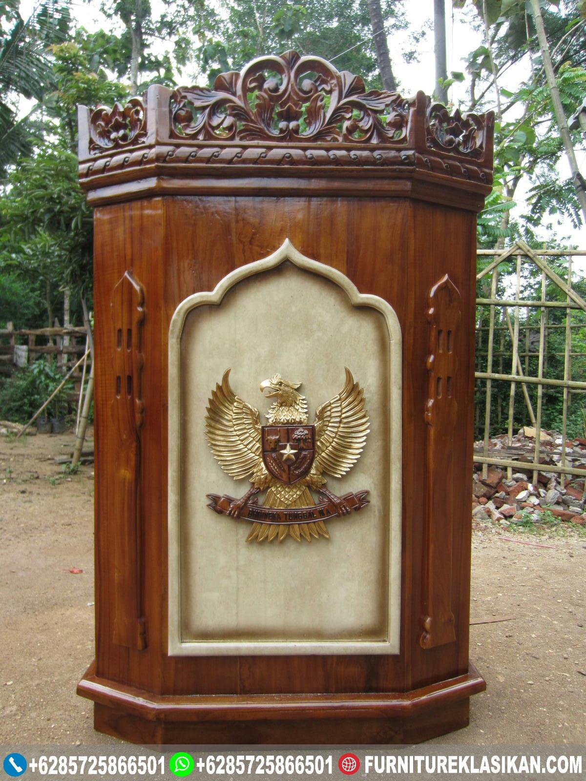 Mimbar-Podium-Jati-Mushola Podium Mimbar Jati Garuda