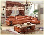 Set Sofa Sudut Jati Mewah Modern