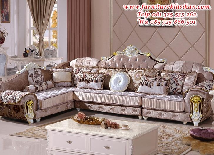 Terbaru-Furniture-rumah-Gaya-Eropa-klasik-ruang-tamu-kain-set-sofa-Ukiran-kayu kursi sofa sudut ukiran duco klasik