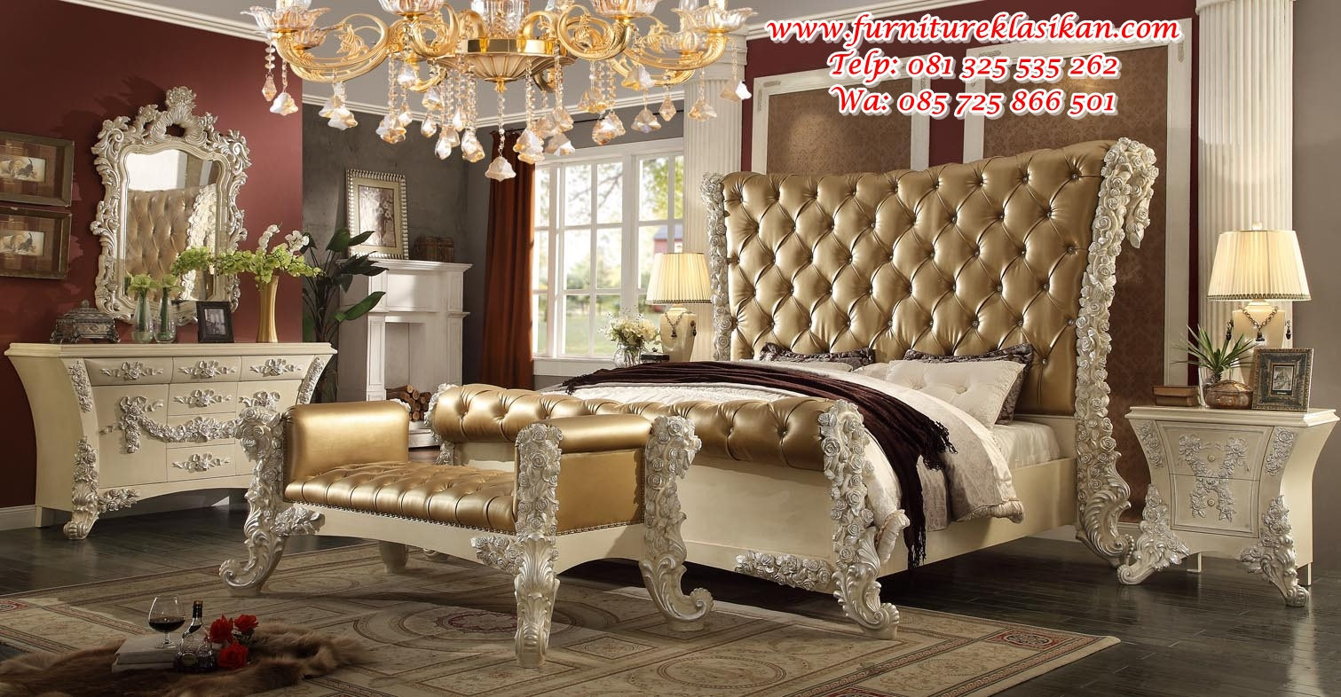 Victorian-European-Classic-King-Bedroom-Set-with-victorian-bedroom-furniture-for-sale tempat tidur klasik ukiran terbaru