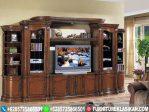 bufet tv jati model lemari pajangan mewah