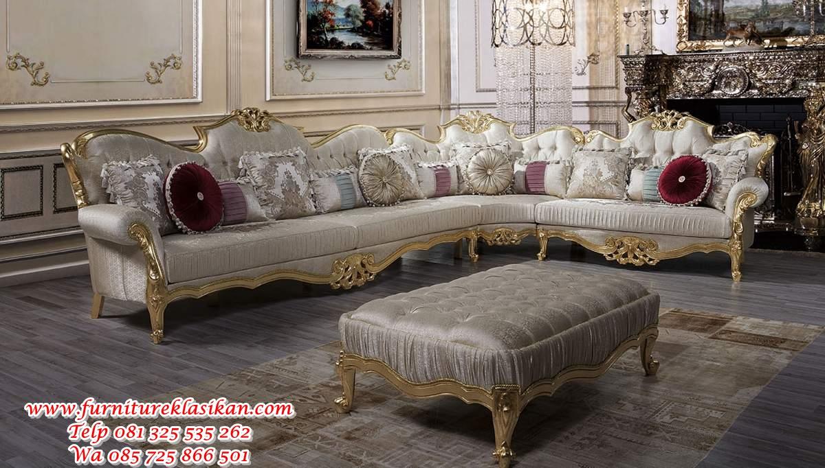 1 set sofa sudut ukiran classic palazzo