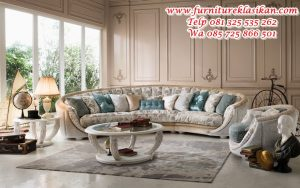 set kursi sofa sudut ukiran luxury