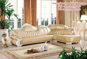 sofa tamu sudut klasik duco mewah