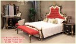 tempat tidur ukir modern klasikan