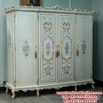 lemari pakaian 4 pintu ukiran antique