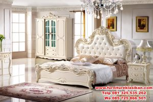 tempat tidur ukiran cream duco modern