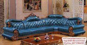 kursi tamu sofa sudut jati terbaru