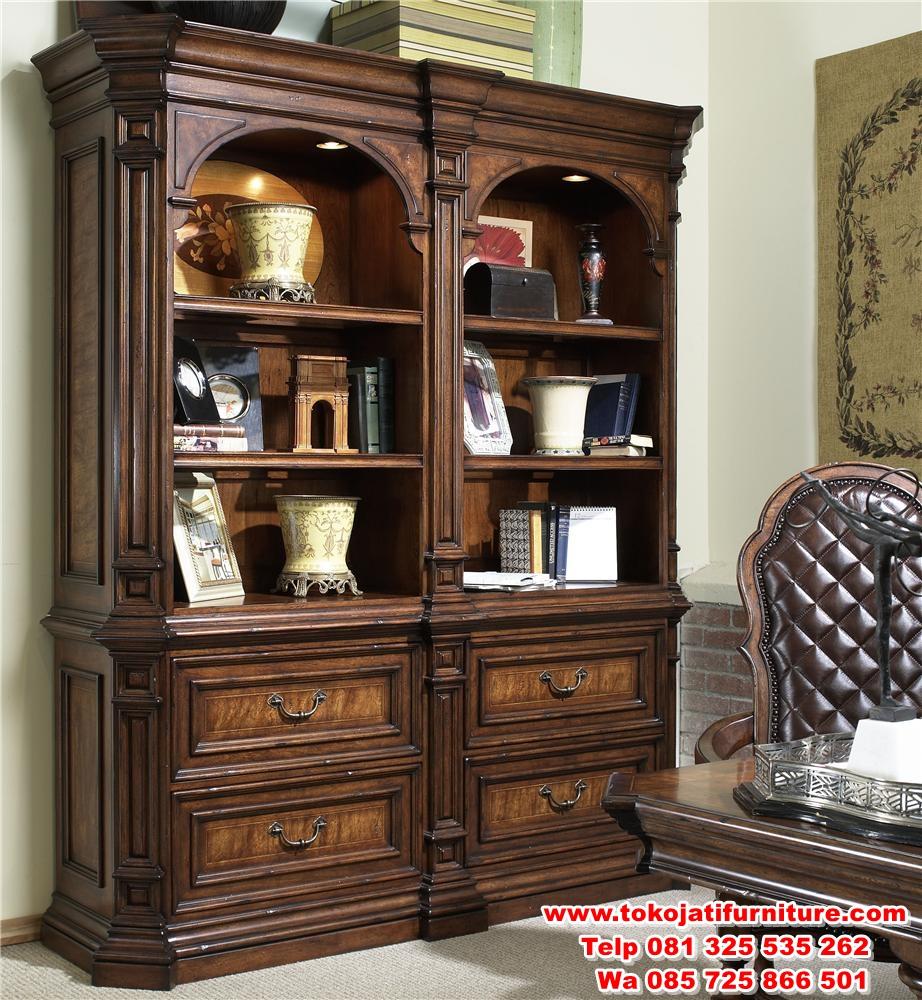 lemari-buku-jati-classic-modern lemari buku jati classic modern