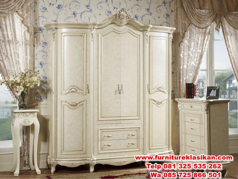 lemari-pakaian-classic-4-pintu-modern lemari pakaian classic 4 pintu modern