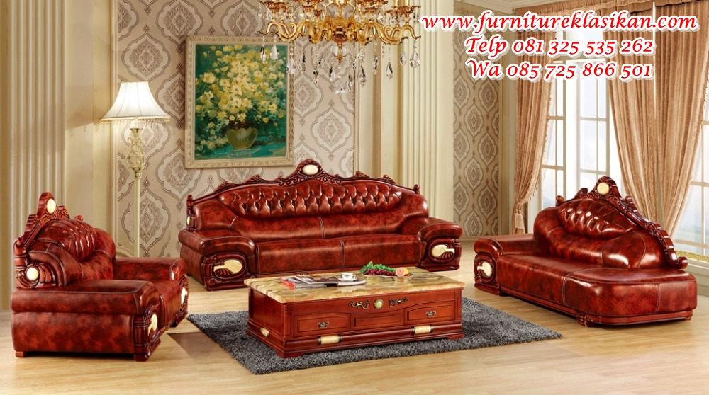 luxury-big-European-leather-sofa-set-living-room-sofa-made-in-China-sectional-sofa-wooden-frame 1 set kursi sofa tamu jati mewah frame