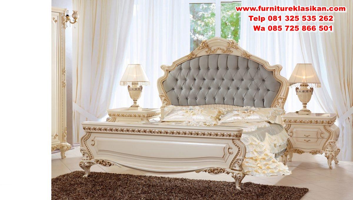 tempat tidur jepara ukiran modern